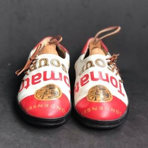 VERY RARE Andy Warhol Authentic Tomato Soup Shoes.
